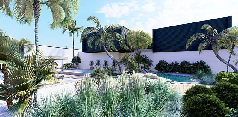 Plan 3D jardin